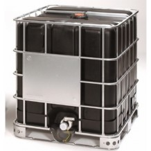 1000ltr UN Approved Black Reconditioned IBC steel pallet