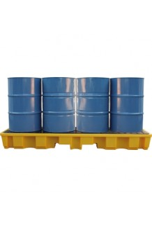 4 IN-LINE Drum Bund / Spill Pallet