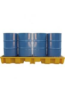 4 IN-LINE Drum Bund / Spill Pallet