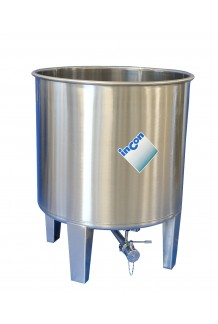 MTHA Stainless Steel Tank- Open Top & Round Shaped Bottom