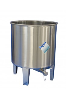 MTLA Stainless Steel Tank - Open Top & Central Total Drain