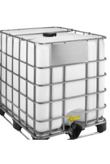 Rebottled IBC with Larger 220mm Lid Steel pallet
