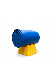 SINGLE OIL DRUM STAND YELLOW